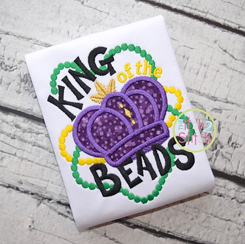 King of the Beads Applique