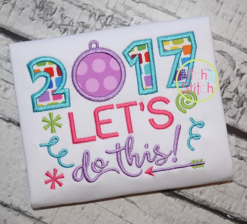 Let's Do This 2017 Applique