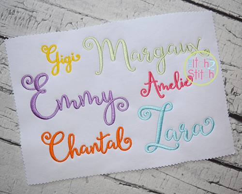 Lettres Douces Embroidery Font