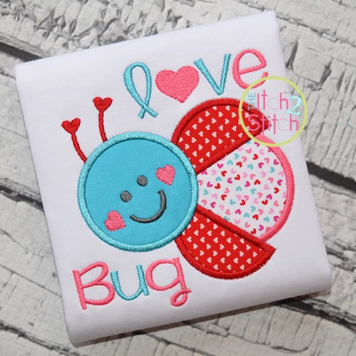 Love Bug Ladybug Applique