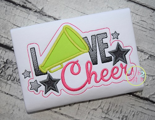 Love Cheer Applique