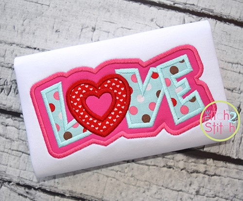 Love Double Applique