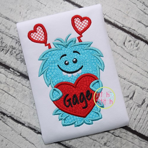 Love Monster 2 Applique
