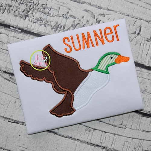 Mallard Duck Applique