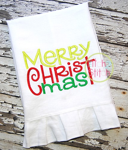Merry Christmas 2 Embroidery