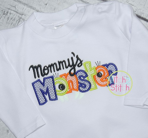 Mommy's Monster Embroidery