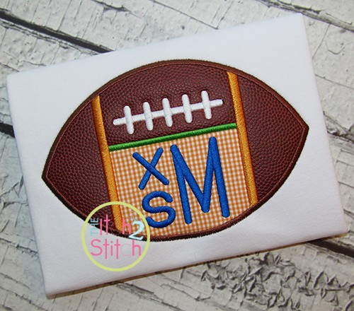 Football Monogram Applique