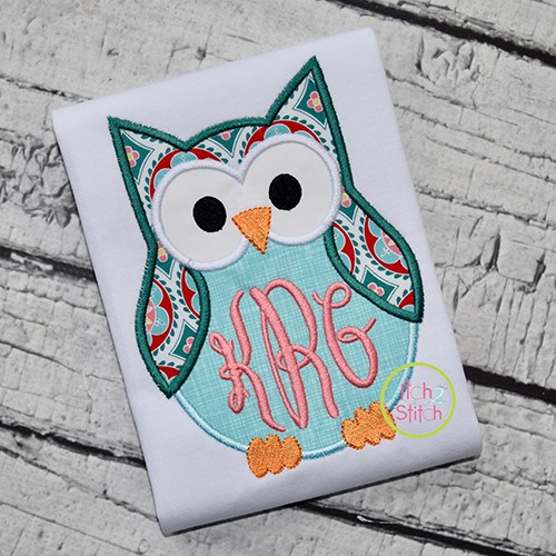 Monogram Owl Applique