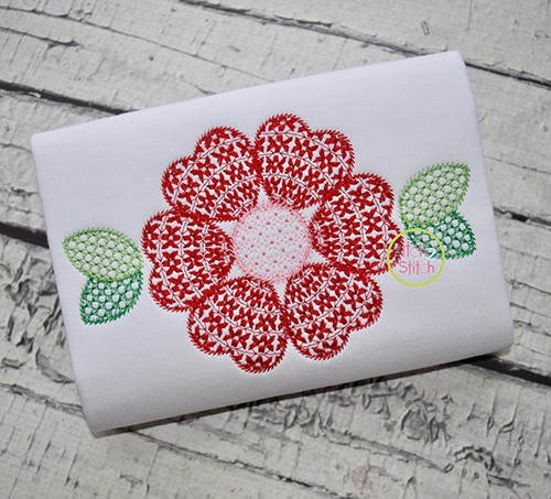 Heart Flower Motif Embroidery