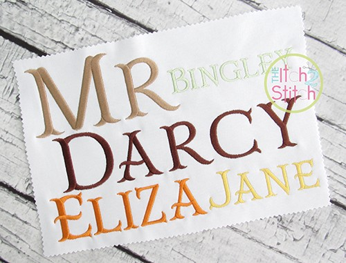 Mr Darcy Fishtail Embroidery Font The Itch 2 Stitch