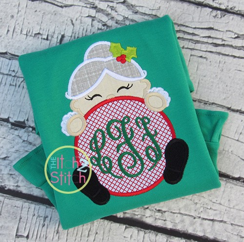 Mrs Claus Peeker Applique