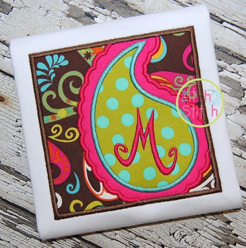Paisley Box Applique