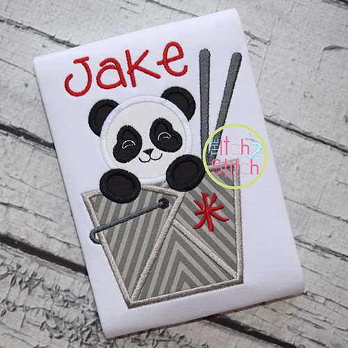 Panda Take Out Box Applique
