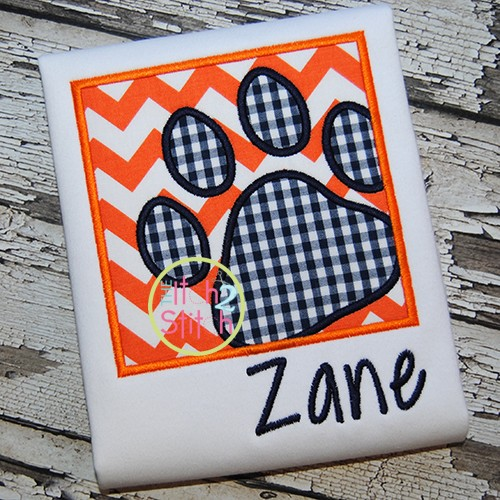 Paw Print Box Applique