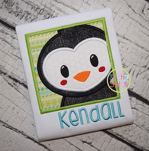 Penguin Box Applique