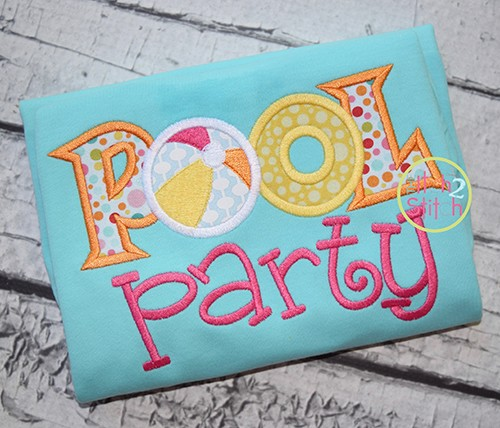 Pool Party Applique