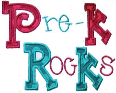 Pre K Rocks Applique Design