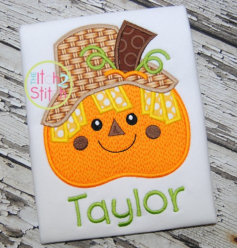 Pumpkin Scarecrow Applique