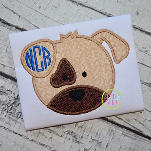 Puppy Face Applique