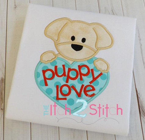 Puppy Love Boy Applique