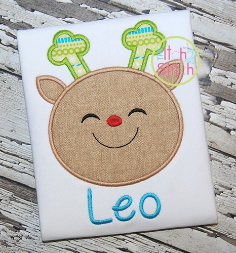 Reindeer Face 2 Applique