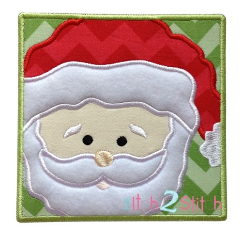 Santa Box Applique