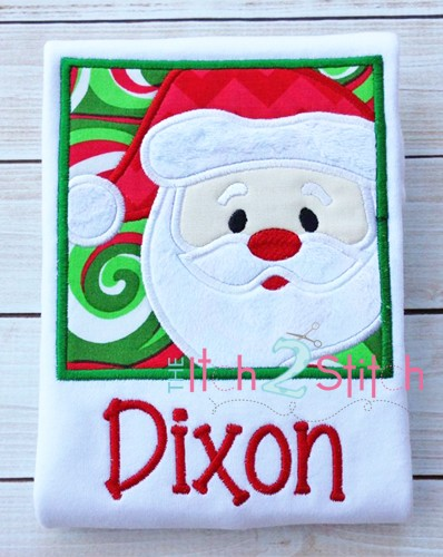 Santa Box 2 Applique