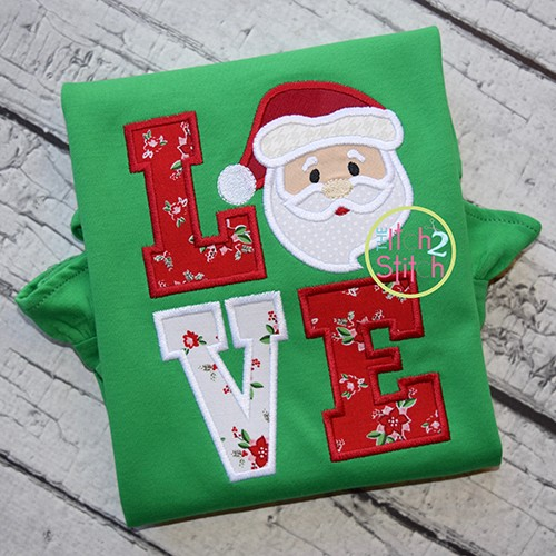 Santa LOVE Applique