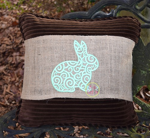 Scroll Bunny Embroidery