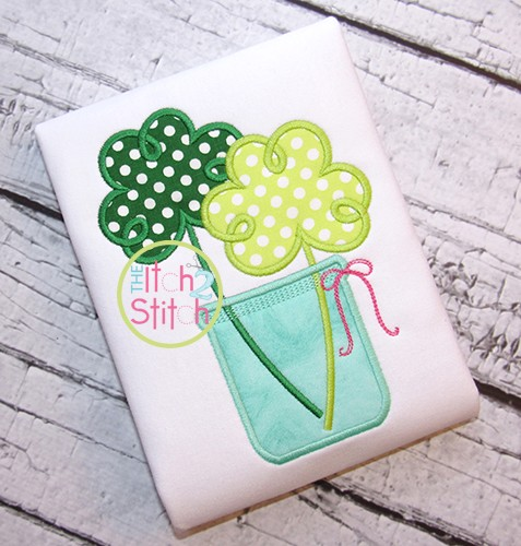 Shamrock Jar Applique