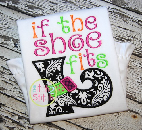 If the Shoe Fits Applique