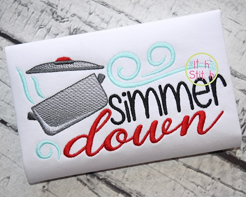Simmer Down Embroidery