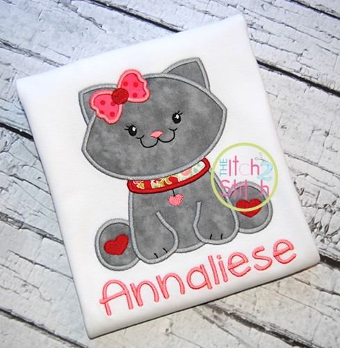 Sitting Kitty Applique