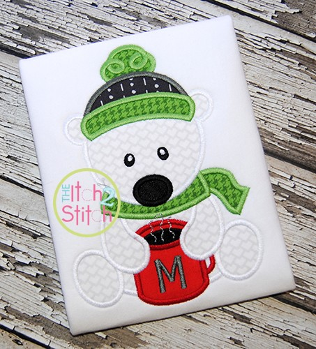 Sitting Polar Bear Mug Applique