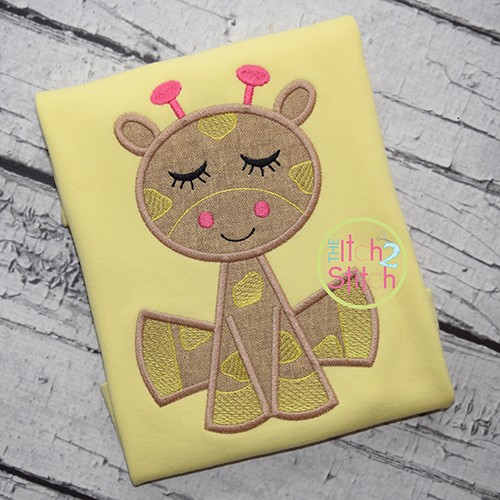 Sleepy Giraffe Applique