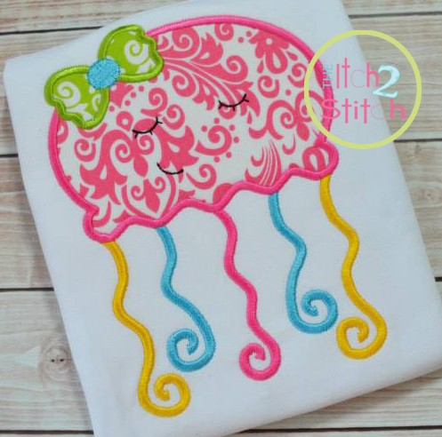 Sleepy JellyFish Applique