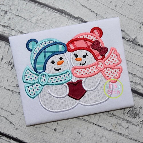 Snow Couple 2 Applique