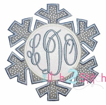 Snowflake for Monogram Applique