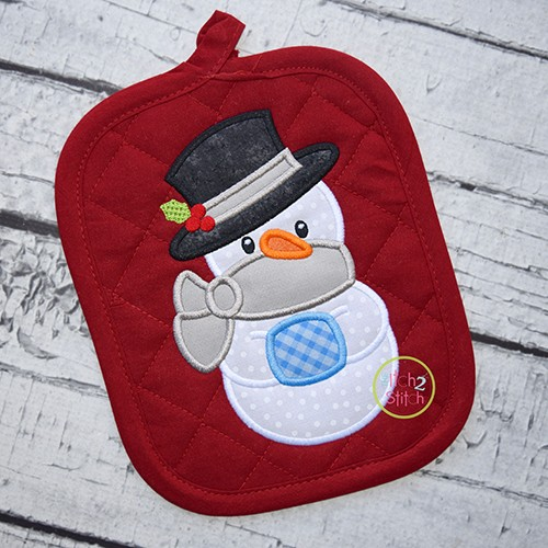 Snowman with Muff Applique