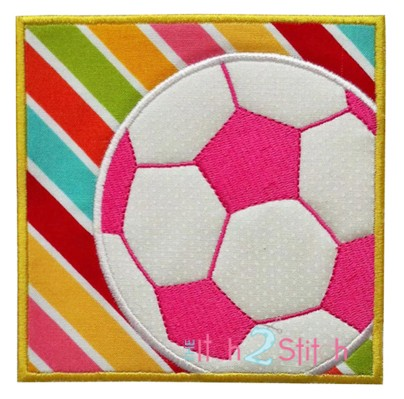 Soccer Box Applique