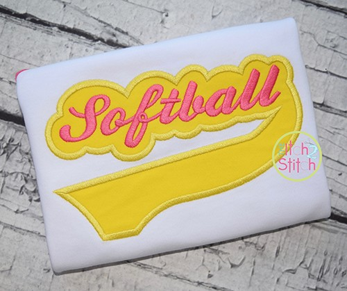 Softball Tail Applique