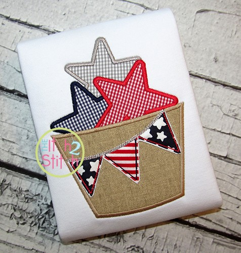 Star Barrel Applique