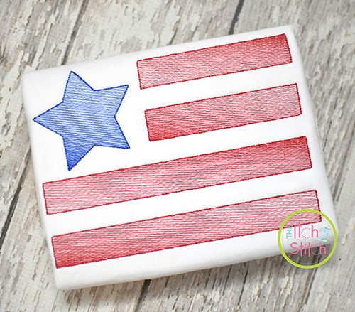 Star Flag SKETCH Embroidery
