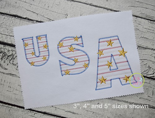 Stars and Stripes Embroidery Font