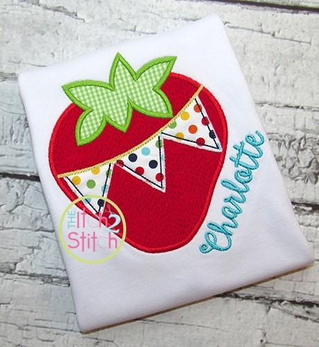 Strawberry Pennant Applique