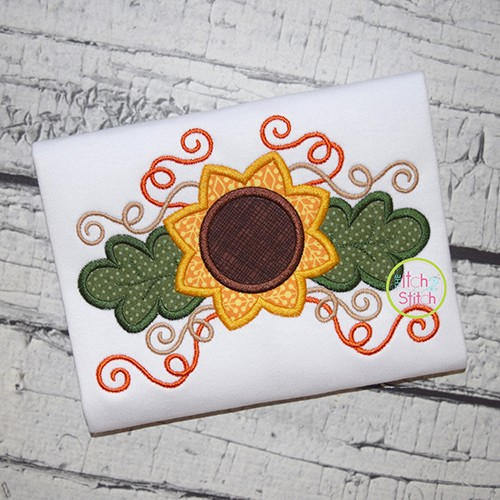 Sunflower Swirl Applique