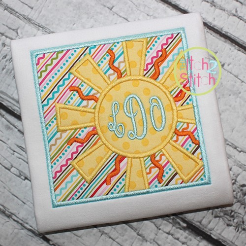 Sunshine Box Applique
