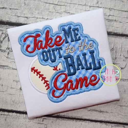 Take Me Out to the Ball Game Applique