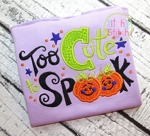 Too Cute To Spook Applique