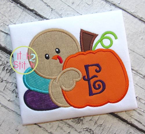 Turkey Pumpkin 2 Applique